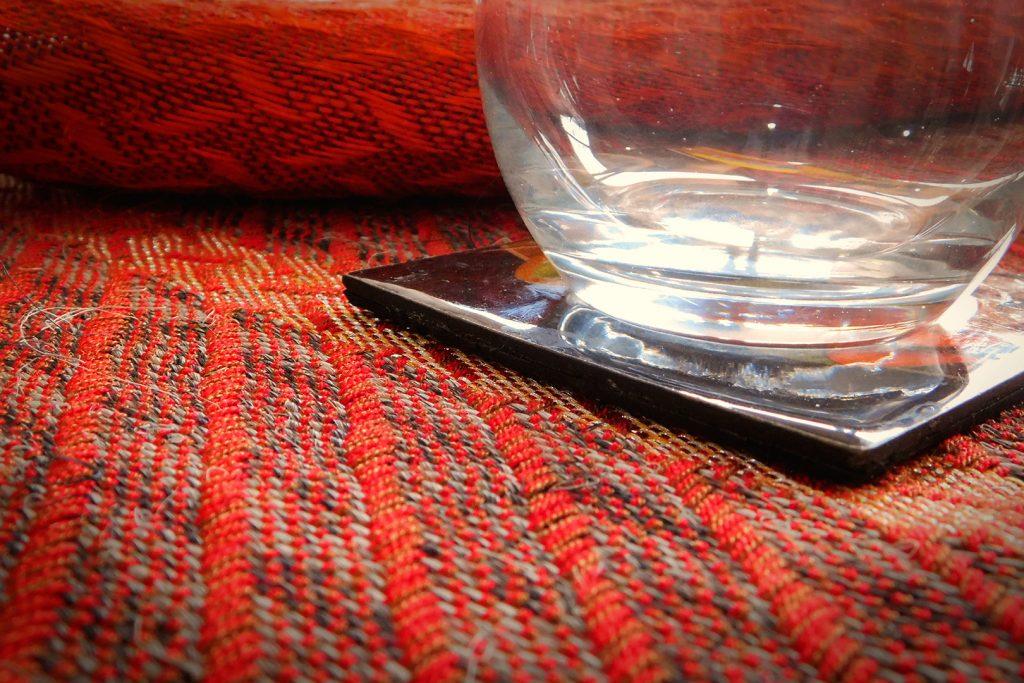 Gôbelins | Productos | Gobelins Fique Telar Individuales Texturas Rojo