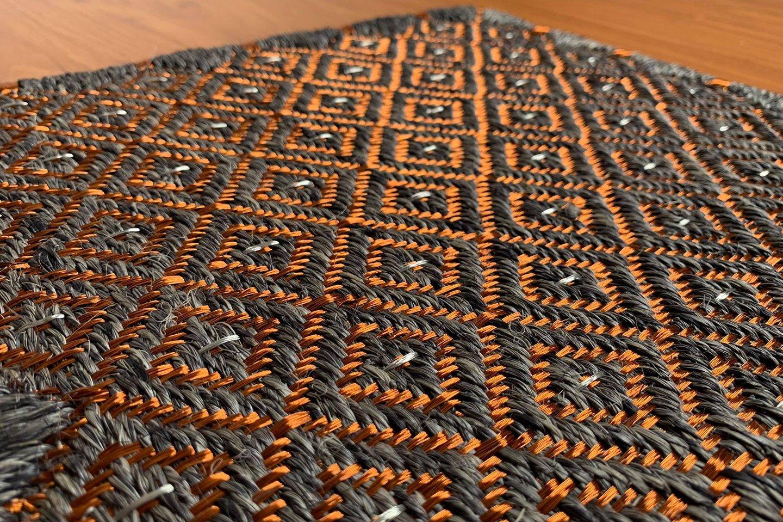 Gôbelins   Tapete Atlante   Gobelins Tapetes Artesanales Atlante Fique gris oscuro e hilos de cobre