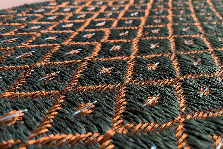 Gôbelins   Tapete Atlante   Gobelins Tapetes Artesanales Atlante Fique verde e hilos de cobre